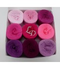 Farben des Lebens (4ply-900m) - Pink shades