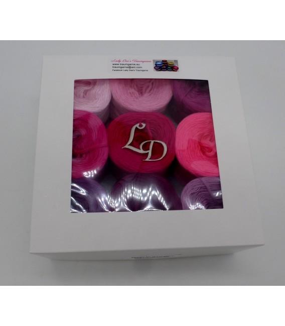 Un paquet Bobbelinchen Lady Dee's Farben des Lebens (Couleurs de vie) (4 fils - 900m) - Teintes rose - Photo 4