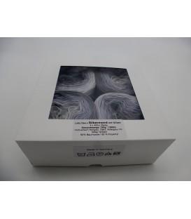 Farbverlaufsgarn 3-fädig Silbermond mit Glitzer - 4 Bobbelinis im Set