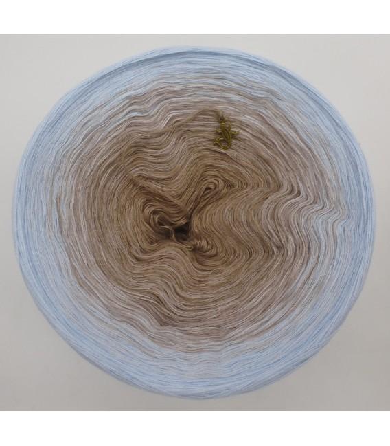 4 нитевидные градиента пряжи - Morgennebel - светло-голубой  снаружи 2