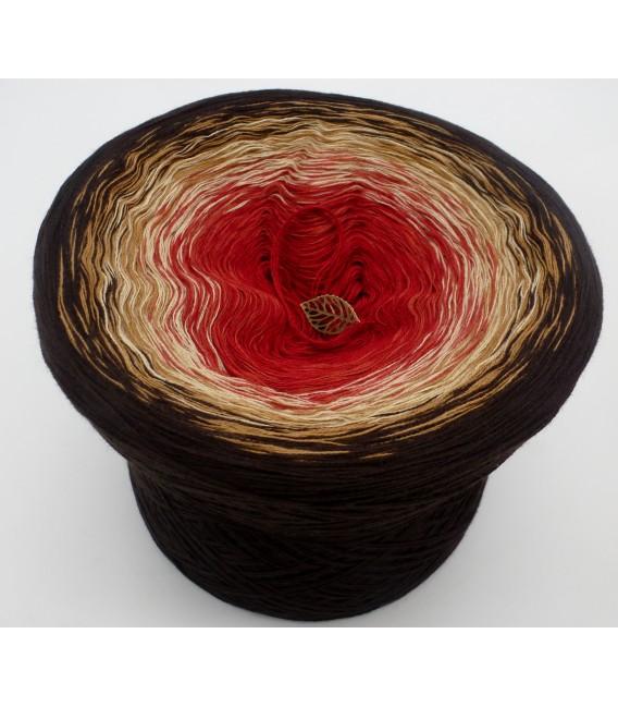 Farbverlaufsgarn 4-fädig Drachenblut - Schokolade aussen