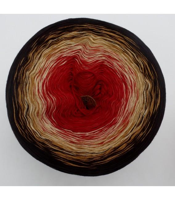 Farbverlaufsgarn 4-fädig Drachenblut - Schokolade aussen 2