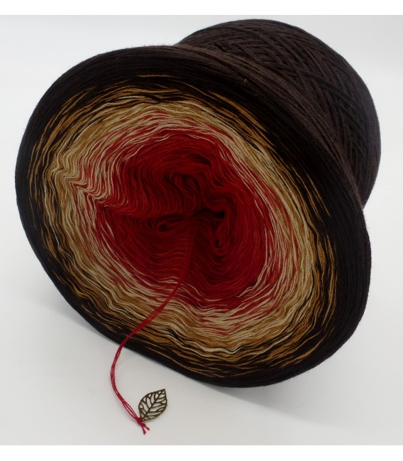 Farbverlaufsgarn 4-fädig Drachenblut - Schokolade aussen 4