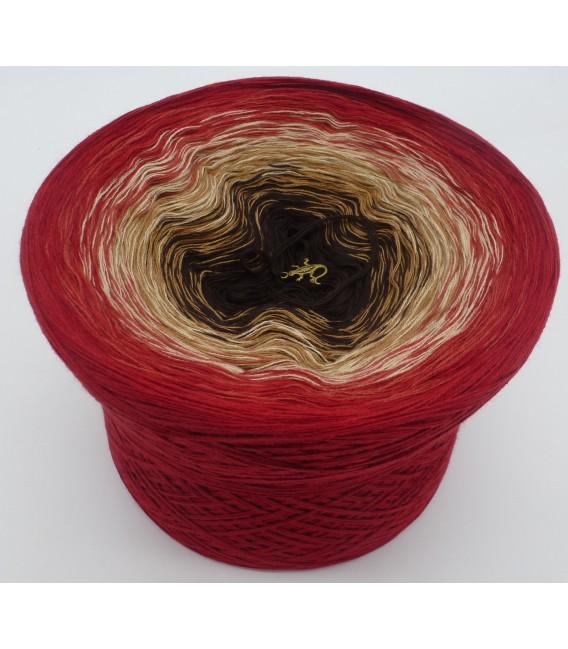 Farbverlaufsgarn 4-fädig Drachenblut - Burgund aussen