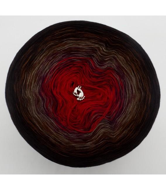 gradient yarn 4ply Flamenco - Chocolate outside 4