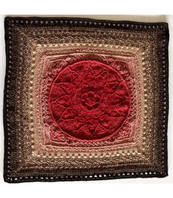 gradient yarn 4ply Drachenblut - Burgundy outside 5