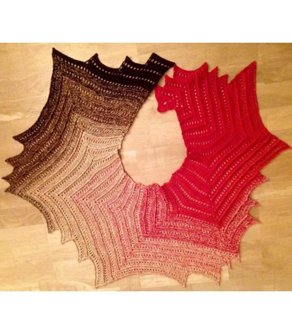 Farbverlaufsgarn 4-fädig Drachenblut - Burgund aussen 6