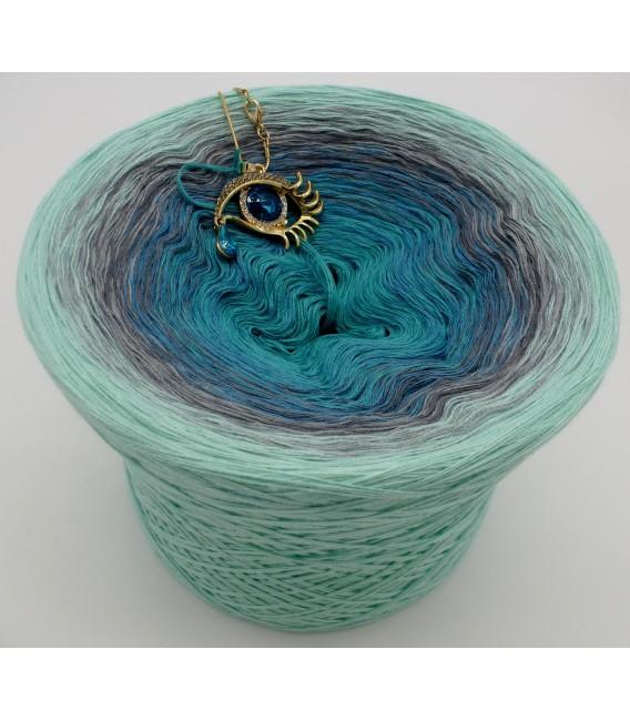 gradient yarn 4ply Ocean of Memories - pistachio outside