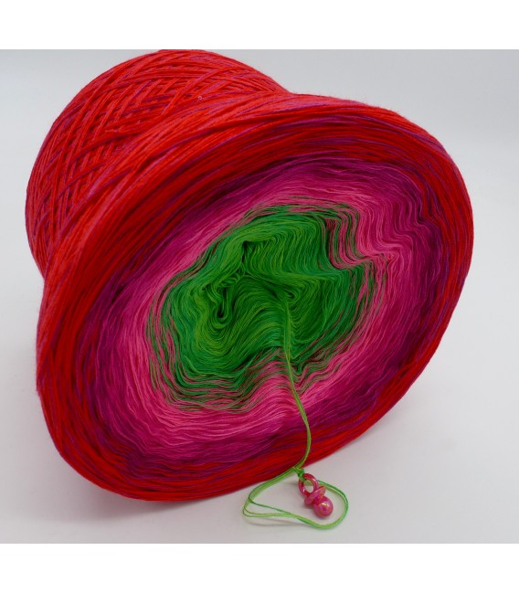 gradient yarn 4ply Lovely Roses - cherry outside 3