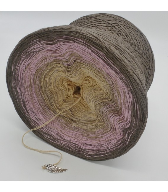gradient yarn 4ply Rauchquarz - taupe outside 4