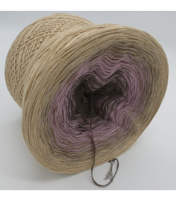 gradient yarn 4ply Rauchquarz - Beige outside 3