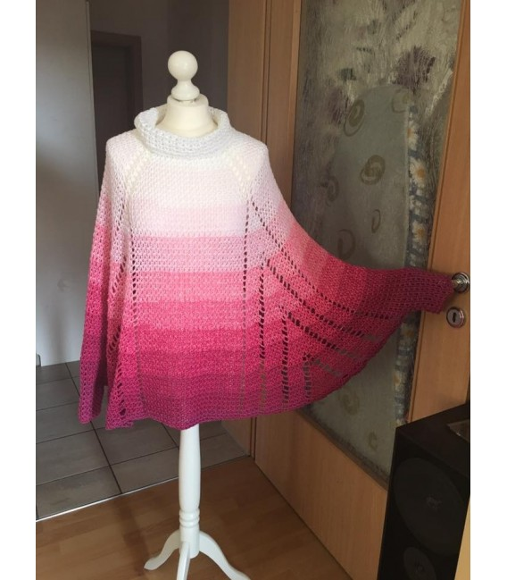 gradient yarn 4ply Heiße Kirschen - Raspberry outside 5