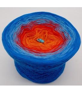 gradient yarn 4-ply Harlekin - sea blue outside