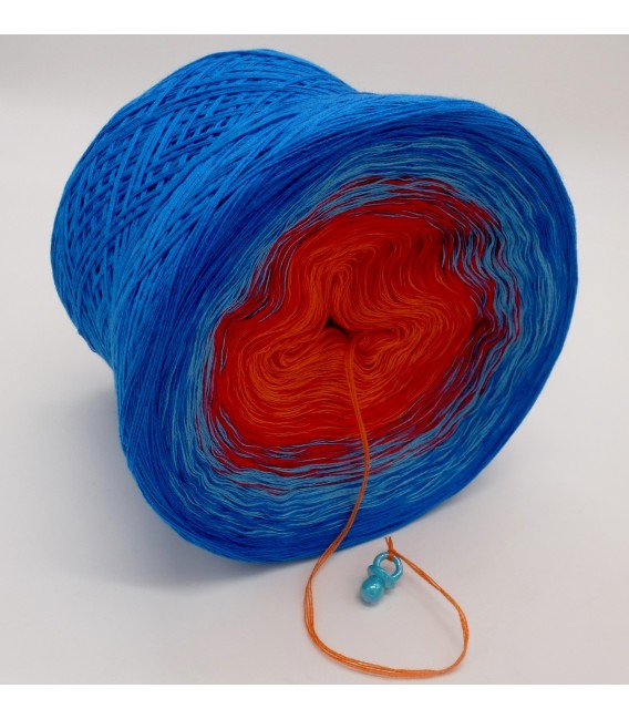 gradient yarn 4-ply Harlekin - sea blue outside 3