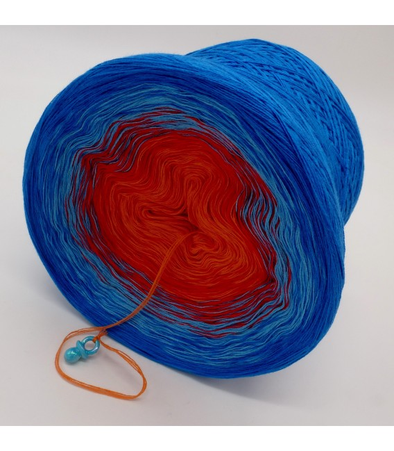 gradient yarn 4-ply Harlekin - sea blue outside 4