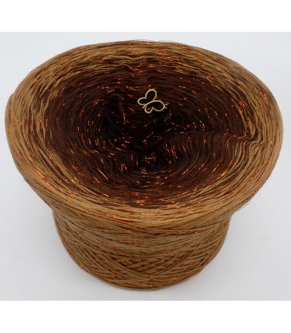 gradient yarn 4-ply Schokokuss with Glitter - Mocha outside