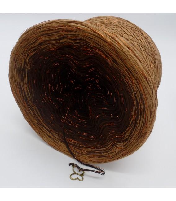 gradient yarn 4-ply Schokokuss with Glitter - Mocha outside 4