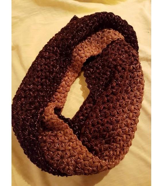 gradient yarn 4-ply Schokokuss with Glitter - Mocha outside 5