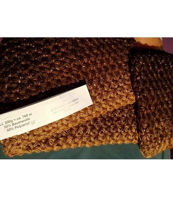 gradient yarn 4-ply Schokokuss with Glitter - Mocha outside 6
