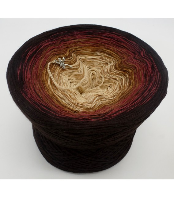 gradient yarn 4ply Mutter Erde - Chocolate outside