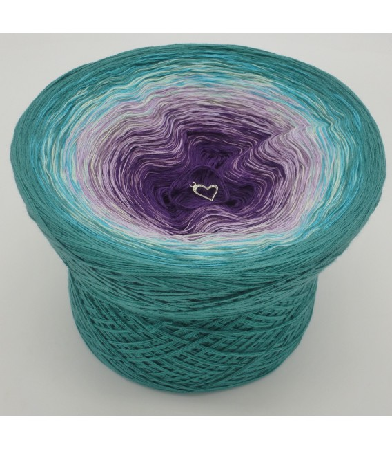 gradient yarn 4-ply Geheimnisvoll - Ocean green outside