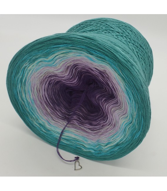 gradient yarn 4-ply Geheimnisvoll - Ocean green outside 4