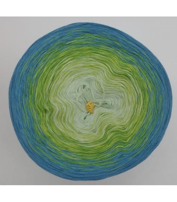 Farbverlaufsgarn 4-fädig Zartes Erwachen - Hellpetrol aussen 2
