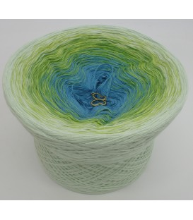 gradient yarn 4-ply Zartes Erwachen - Pea outside