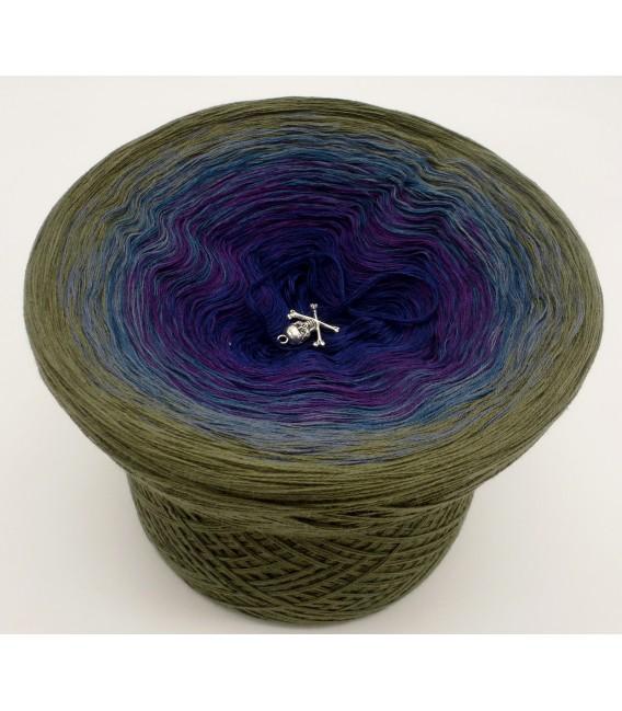 gradient yarn 4-ply Auge des Hurrikan - Khaki outside