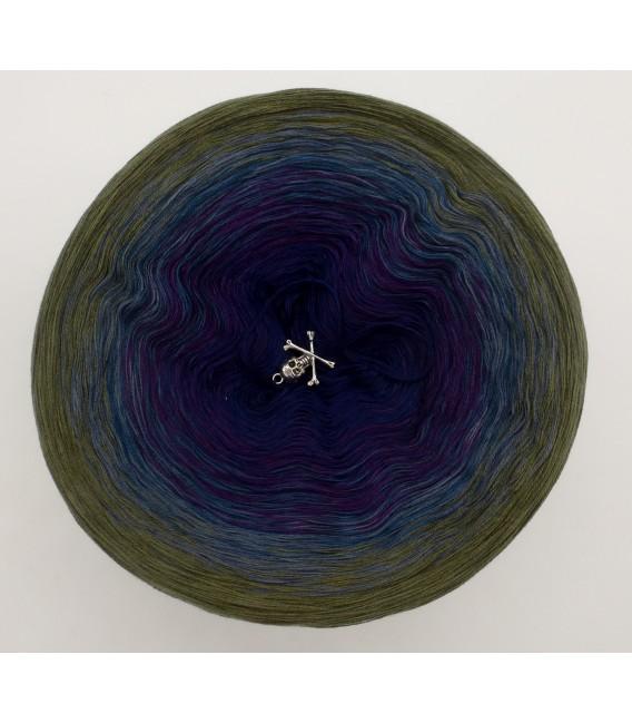 gradient yarn 4-ply Auge des Hurrikan - Khaki outside 2