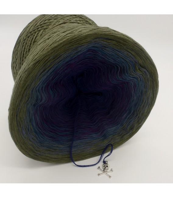 Farbverlaufsgarn 4-fädig Auge des Hurrikan - Khaki aussen 3