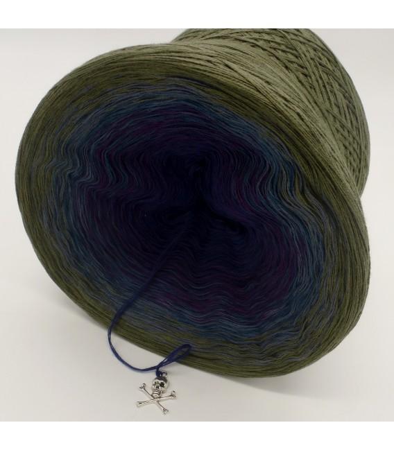 Farbverlaufsgarn 4-fädig Auge des Hurrikan - Khaki aussen 4