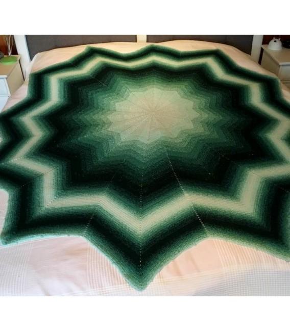 gradient yarn 4ply Tannenwald - fir green outside 7