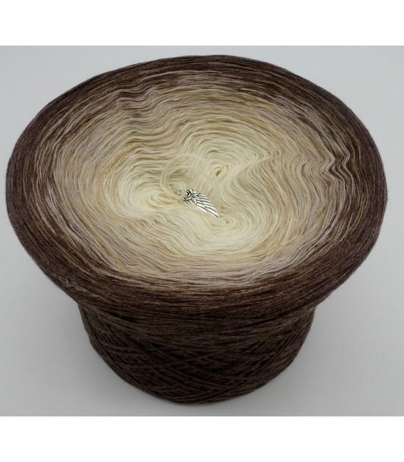 gradient yarn 4ply Vanille Schokochino - brown mottled outside