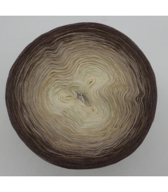 gradient yarn 4ply Vanille Schokochino - brown mottled outside 2