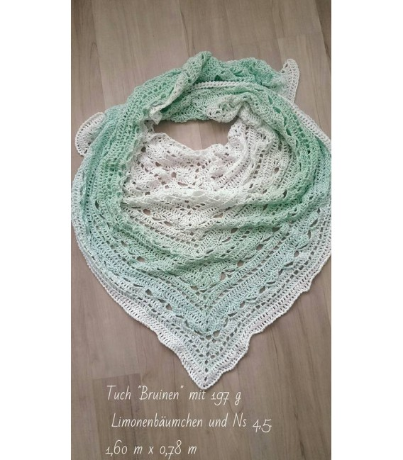 Limonenbäumchen (Lemon tree) - White inside and outside - 4 ply gradient yarn - image 6