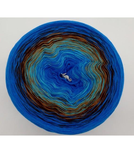 Meeresrauschen - Sea Blue innen und aussen - Farbverlaufsgarn 4-fädig - Bild 2