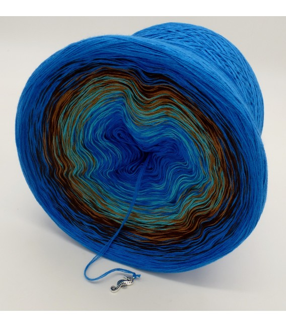 Meeresrauschen (Sea rushing) - Sea Blue inside and outside - 4 ply gradient yarn - image 4