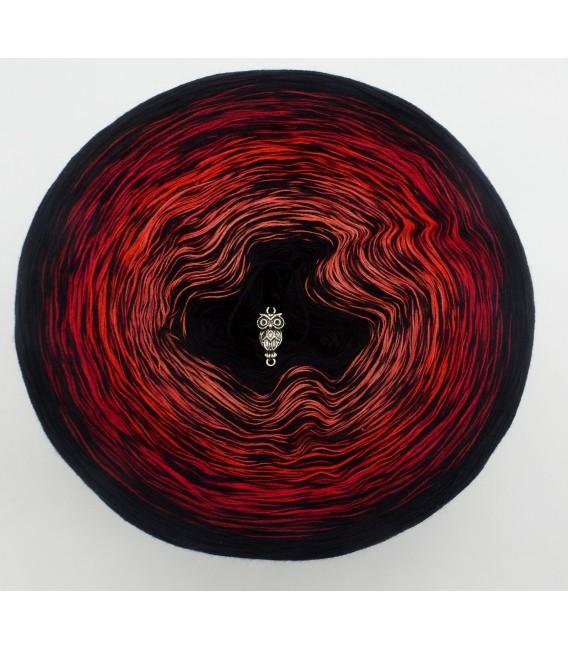 Abendrot - Schwarz durchlaufend - Farbverlaufsgarn 4-fädig - Bild 2