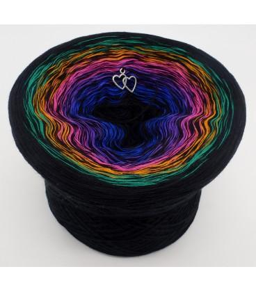 Colors in Love (Цвета в любви) - черный непрерывно - 4 нитевидные градиента пряжи - Фото 1