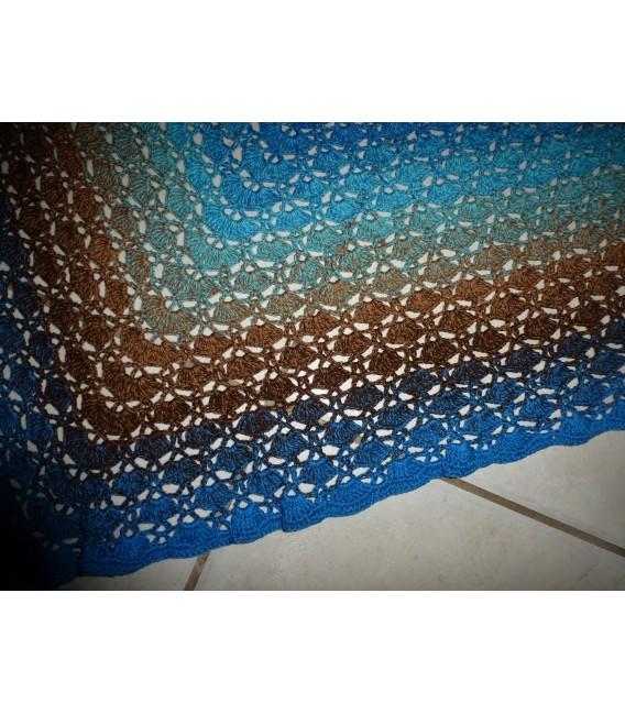 Meeresrauschen - Sea Blue innen und aussen - Farbverlaufsgarn 4-fädig - Bild 6