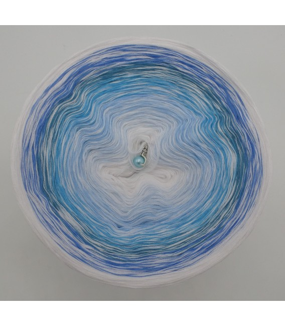 Blue Ocean - Weiss durchlaufend - Farbverlaufsgarn 4-fädig - Bild 2