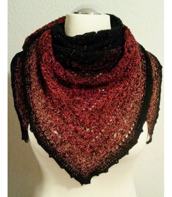 Abendrot (Evening red) - Black continuously - 4 ply gradient yarn - image 7