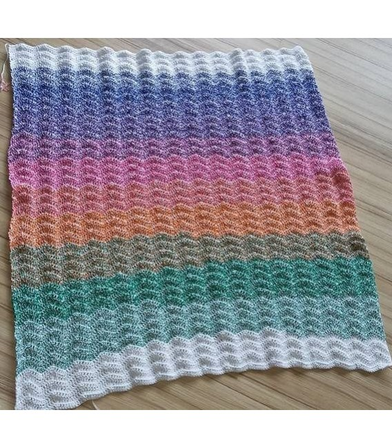 Blütenzauber - Weiss durchlaufend - Farbverlaufsgarn 4-fädig - Bild 5