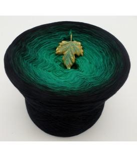 gradient yarn 3ply - Dark Forest 3F - black outside