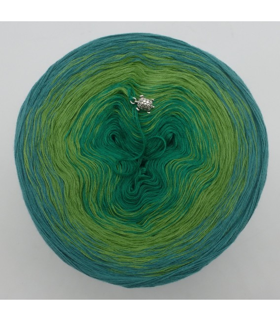 gradient yarn 3ply Froschkönig 3F - ocean green outside 2