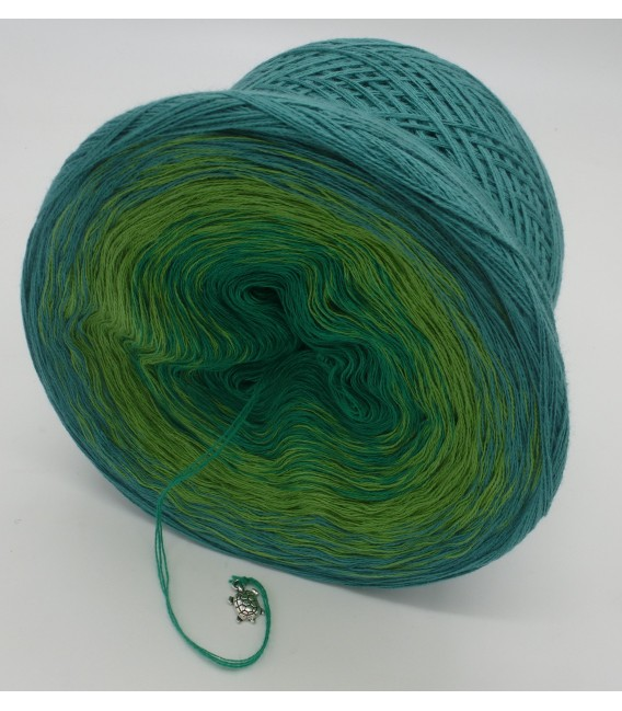 gradient yarn 3ply Froschkönig 3F - ocean green outside 4