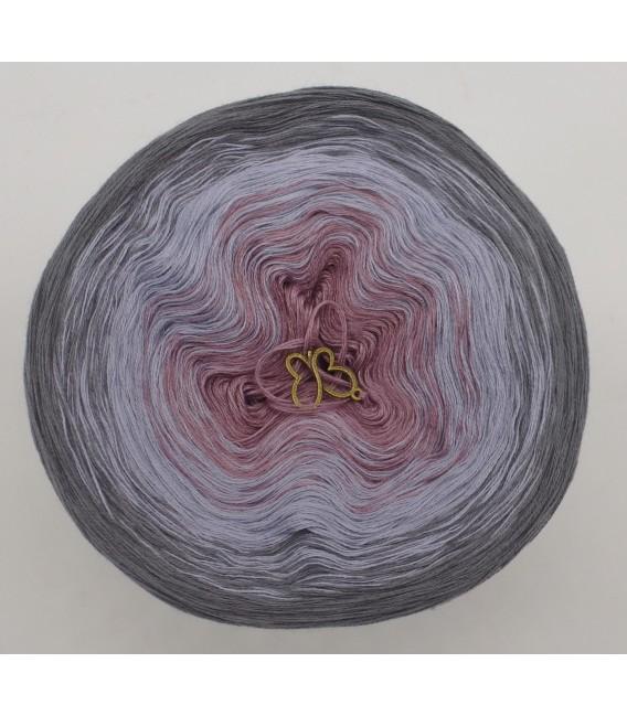 gradient yarn 3ply Indian Rose 3F - medium gray outside 2