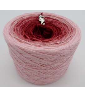 gradient yarn 2ply Röschen Rot 2F - rose outside