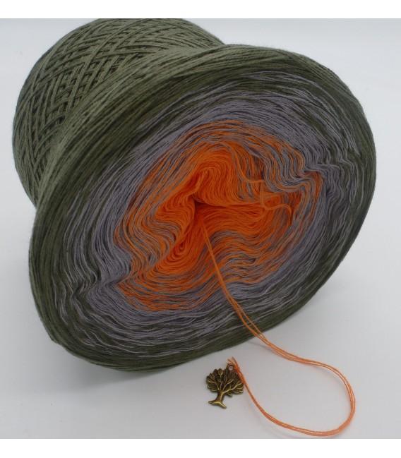 Orange Dream (Оранжевый сон) - 3 нитевидные градиента пряжи - Фото 4